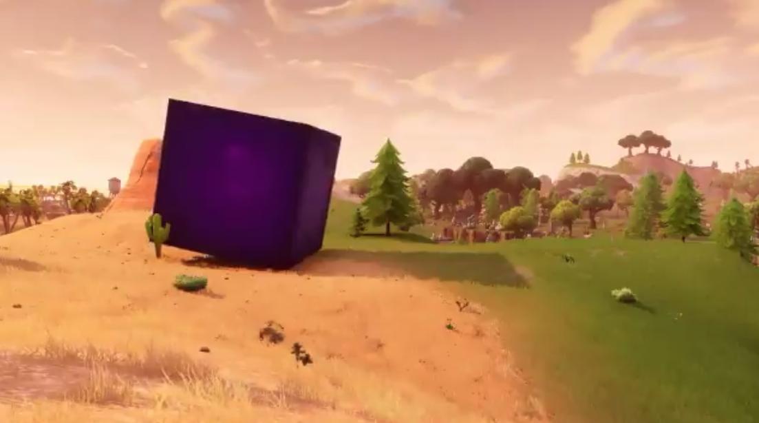 Fortnite La Saison 6 Teasee Par Un Cube Violet Geant Qui Se Balade