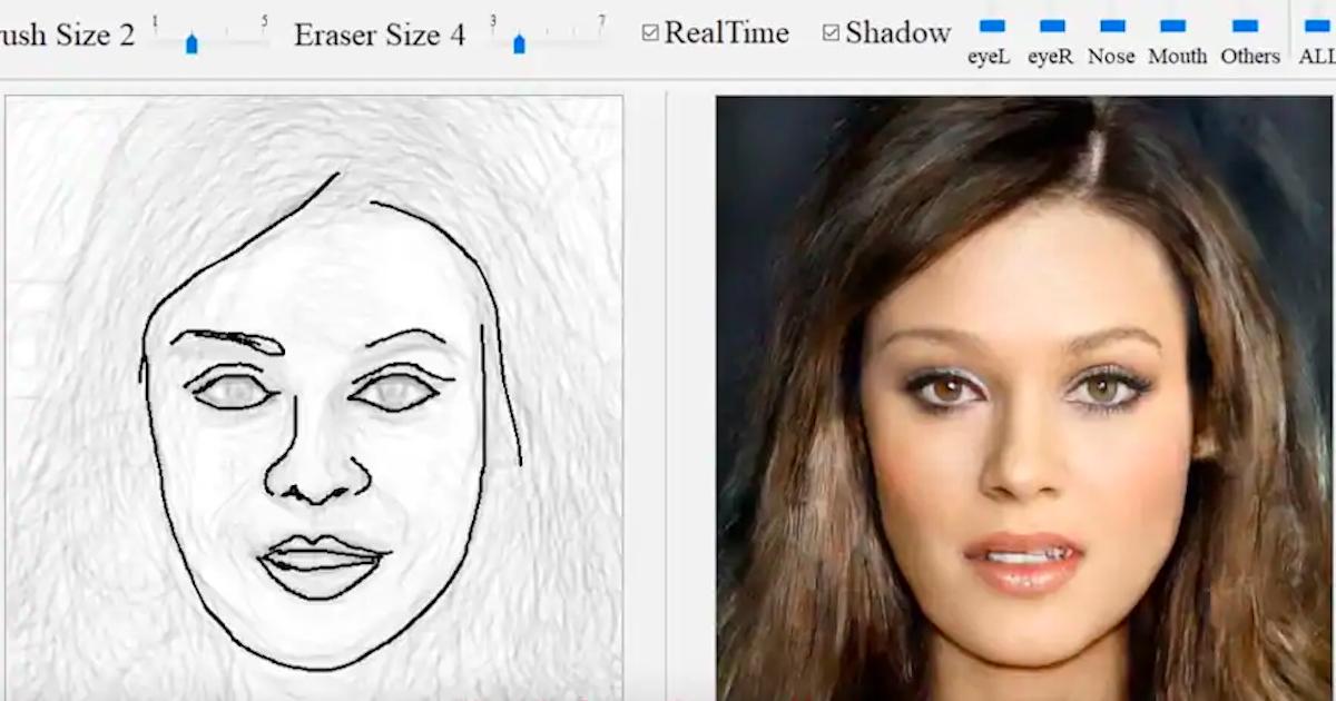 A Partir D Un Simple Dessin Ce Generateur Realise Des Portraits Hyper Realistes