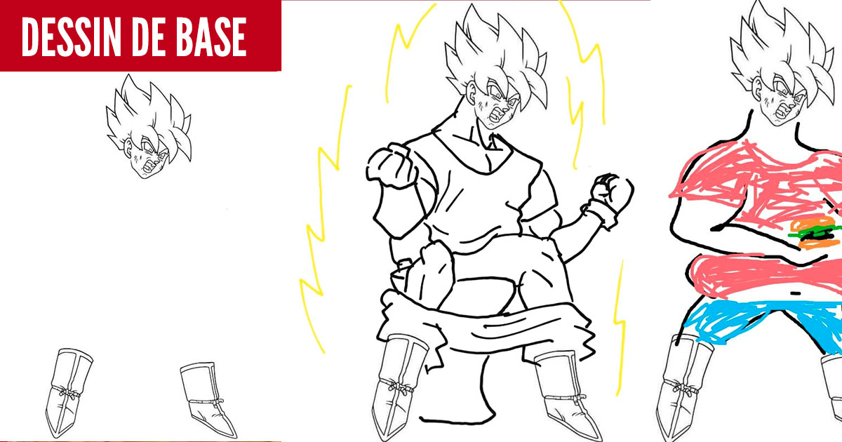 on vous a demandé de dessiner Goku et puis ça a dérapé (55 images)